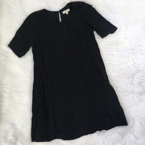 Aritzia Wilfred Classic Casual Black Shift Dress